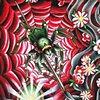 Paintbrush blossoms door