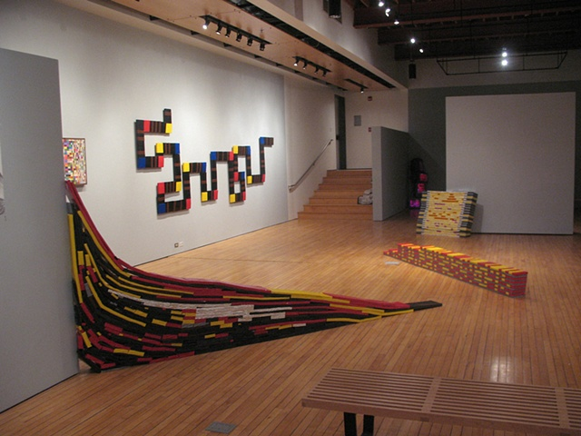 Installation View, Luce Gallery, Cornell College, Mt. Vernon, IA