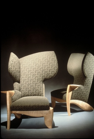 Bisymmetric Wingback Chairs