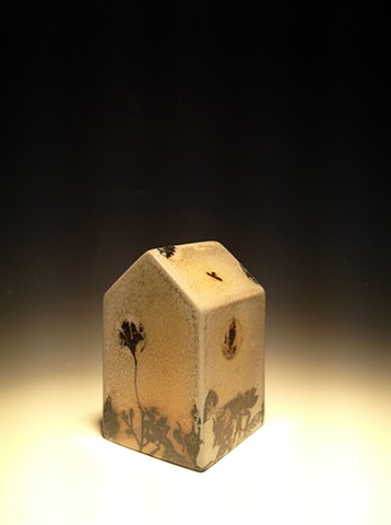 House (soda fired with transfers)