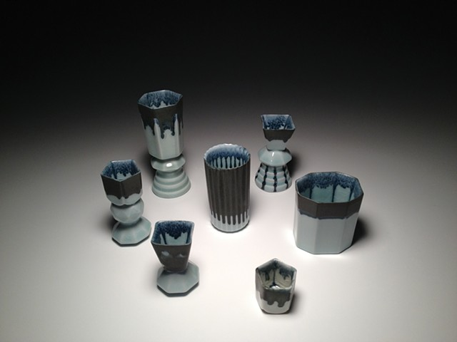 Black and Blue Drip / Composite and Single Cast Cups