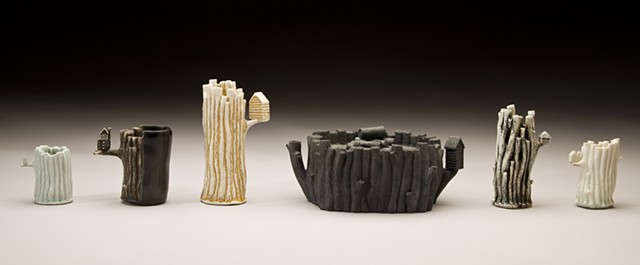 Stick Cups and Teapot