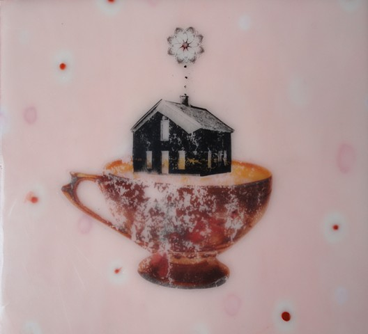 House with Mandala and Teacup