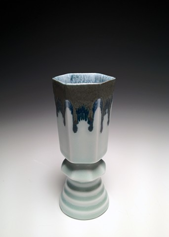 Black and Blue Composite Wine Cup