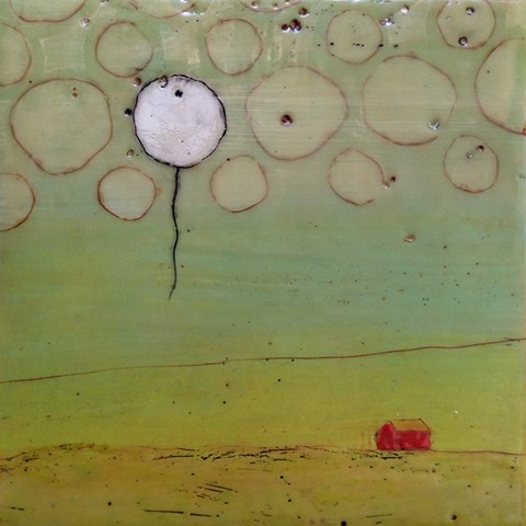 When the Wind Blows - encaustic by Virginia Parks