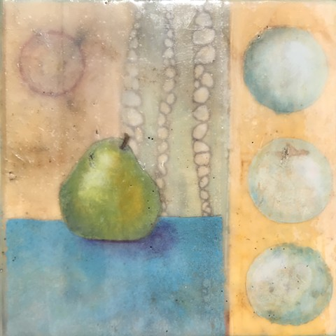 Encaustic painting on cradled wood panel