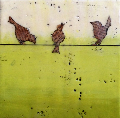 SOLD - Birds on a Wire