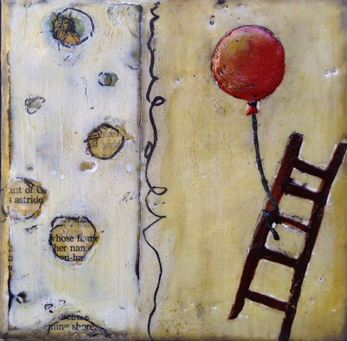 Encaustic painting by Virginia Parks - Independence Day