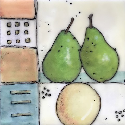 SOLD - Two Pears - Midi Series
