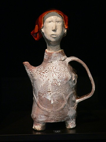 teapot girl with red scarf photo: Jerry Cohen