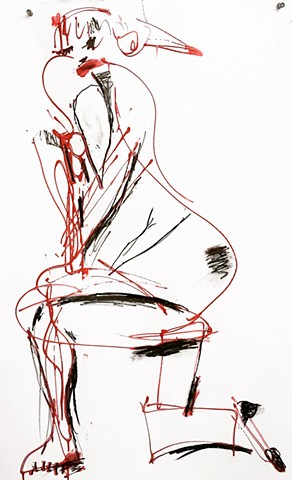 A very simple artpiece by Steven Tannenbaum made using acrylic and charcoal, this piece embodies the idea of simplicity to convey the full substance of the nude model