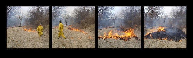Fire Drawing - Streamside, Lake County IL