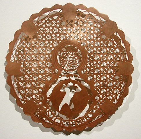 Michael Litzau Nick Perry Packers etching hand cut copper