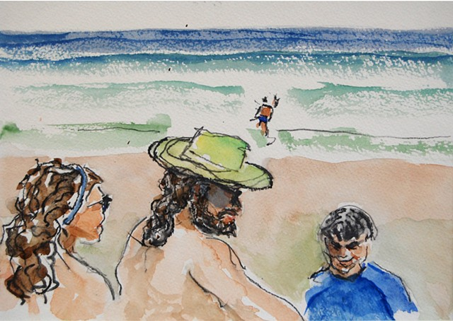 Characters on the Beach