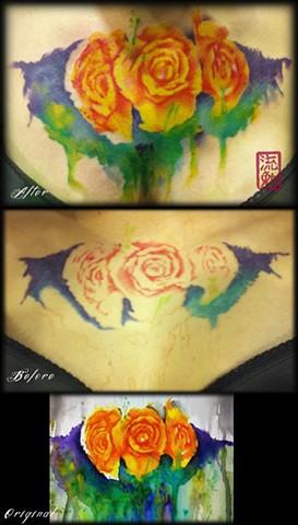 Watercolor Roses Fixer-upper