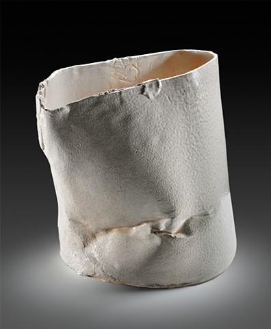 White Stoneware with Celadon Glaze Soda Fired Cone 10 Ceramic Bucket