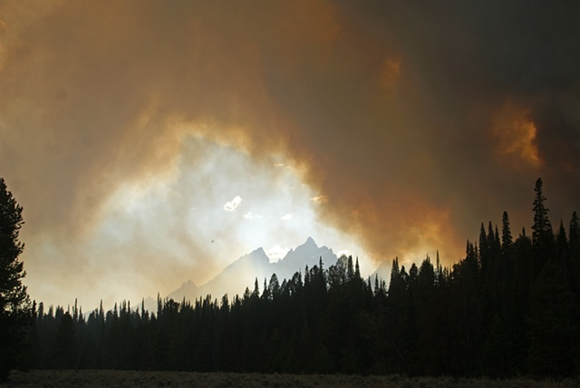 Fire in the Tetons