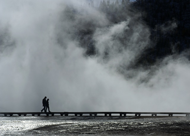 Yellowstone, Steam, Hot Spring, Boardwalk