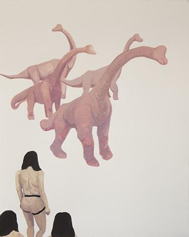 Armed Women Encountering a Pack of Blind Phallosauruses (version 1)