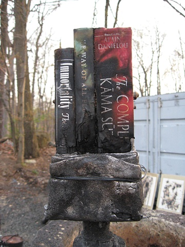 Iron Book Sculptures