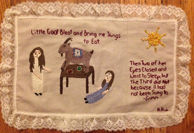 Based on One Eye, Two Eyes, Three Eyes a story by the Brothers Grimm, Surreal Folk Art