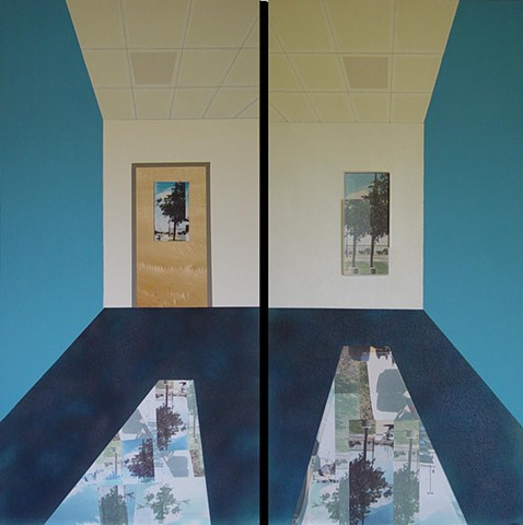 Camera Obscura View: G-115 Classroom, Diptych #1