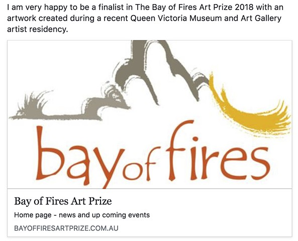 Bay of Fires Art Prize 2018 - Finalist