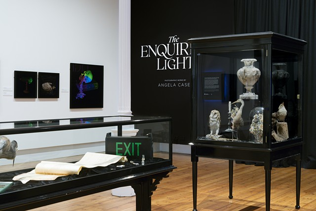 "Installation of ""The Enquiring Light""  Gallery Two at the Queen Victoria Museum and Art Gallery, Royal Park, Tasmania."