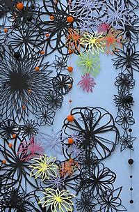 papercut papirklip installation af marianne grønnow