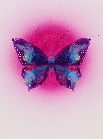 butterfly sommerfugl maleri af marianne grønnow