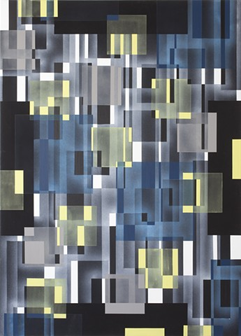 painting maleri firkanter marianne grønnow museum gallery