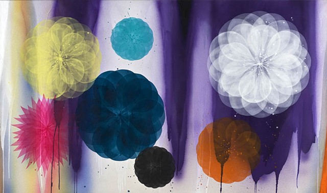 painting flowers maleri blomster af marianne grønnow