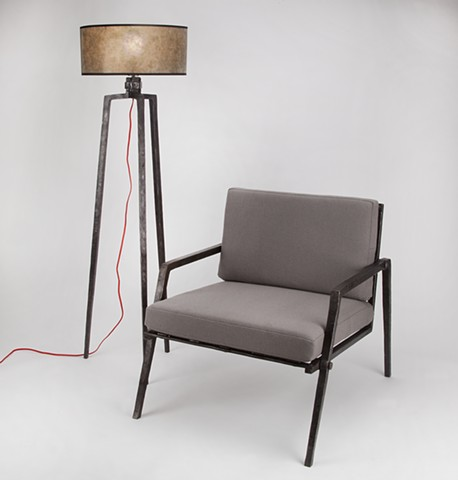 Floor Lamp and The Chair