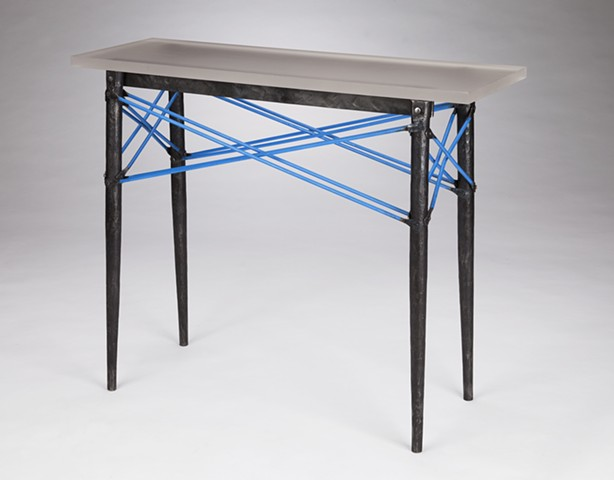 "Old Style Table 36 ""Safety Blue"""