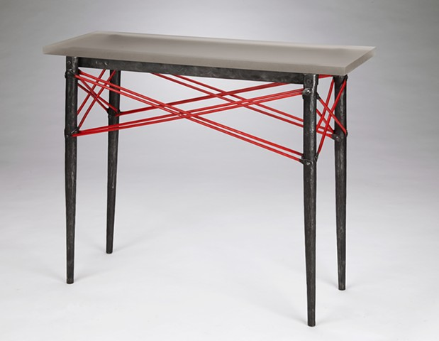 "Old Style Table 36 ""Industrial Red"""