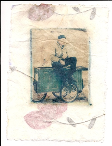 man on a cart
