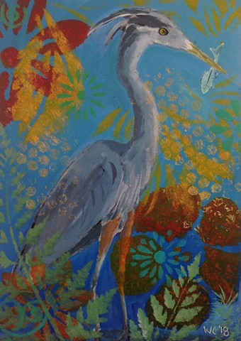Happy Heron (SOLD)