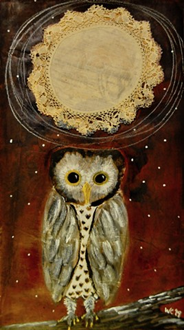 Owl in Moonlight