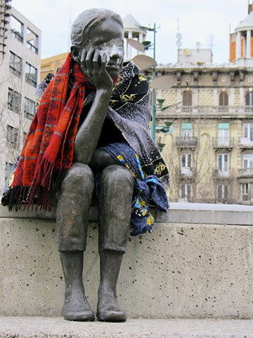 Scarved Statue