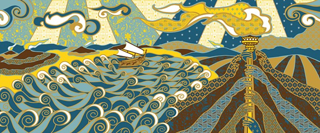 Batik Design for American Batik Design Competition 2013 by Donna Backues.