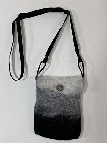 Small Grey & Black Crossbody Bag