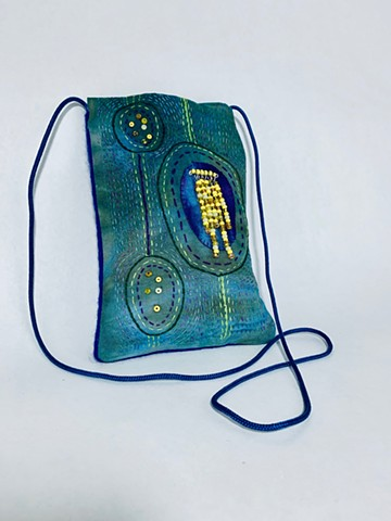 Blue Green Phone Bag