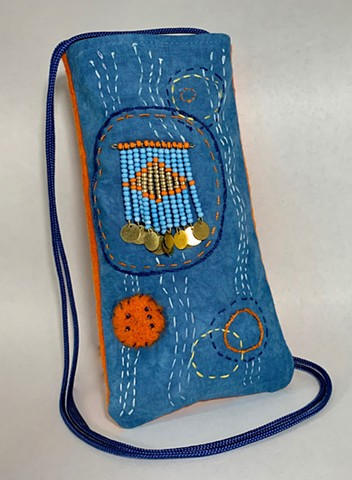 Blue and Orange Phone Bag