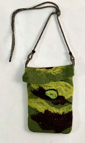 Three Greens Crossbody Bag