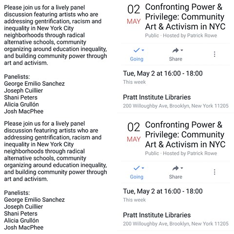Confronting Power and Privilege: Community Art & Activism in NYC