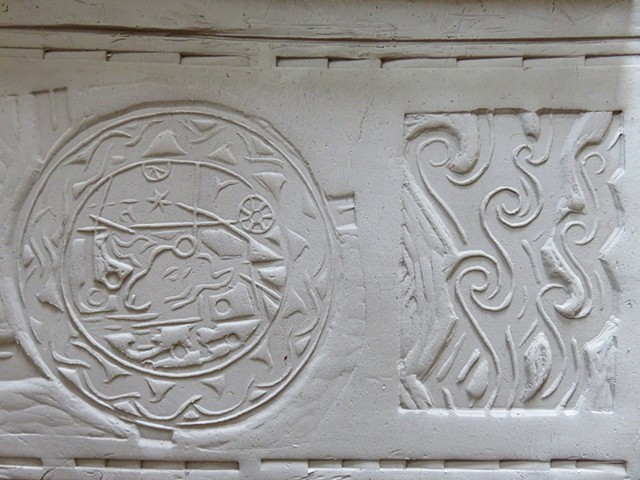 Clay Tile relief