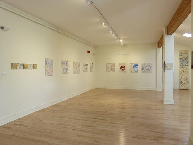 View of works installed at the Maine Jewish Museum, solo show with Kathy Weinberg concurrent with Jeffrey Ackerman