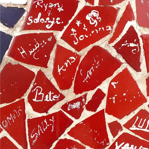 Wall of Signed Mosaic - Peru