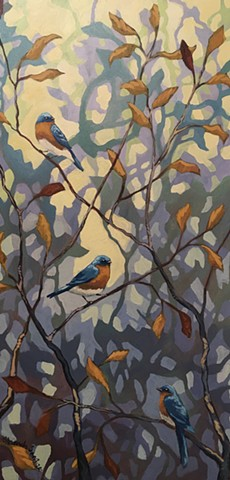 Autumn Bluebirds
