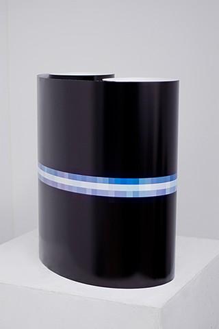 "Venus at 3200% (June 16, 2014, 2:23-2:31am) Installation View (Rolled on Pedestal), Digital C-Print 77"" x 22"""